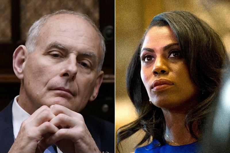 Manigault Newman's firing by White House chief of staff John Kelly- and her apparent audio taping of the encounter- is at the center of the political firestorm