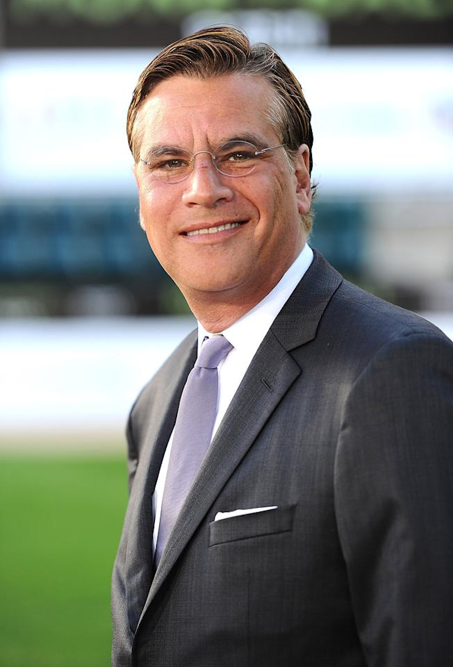 "<a href=""http://movies.yahoo.com/movie/contributor/1802760260"">Aaron Sorkin</a> at the Oakland premiere of <a href=""http://movies.yahoo.com/movie/1810166670/info"">Moneyball</a> on September 19, 2011."