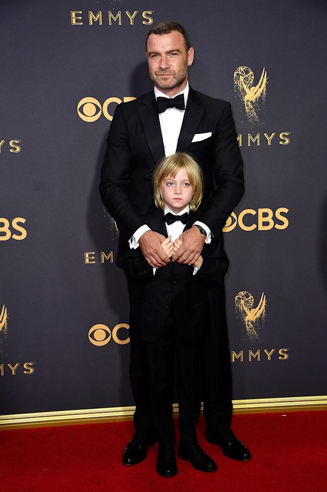 <p>Liev Schreiber attends the 69th Annual Primetime Emmy Awards on September 17, 2017.<br> (Photo: Getty Images) </p>