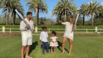 """<p>On Tuesday April 13, the couple revealed that they are expecting a son, sharing a sweet video of the sex reveal in the garden on social media.<br> <br>'Guys, if it's pink, what is it going to be,' the singer asked her five-year-old son Future and two-year-old daughter Sienna in the clip. Both children responded: 'A girl.'<br> <br>The pregnant start then asked if they were hoping for a brother or sister, which prompted her eldest child to say: 'I want it to be a boy.'<br> <br>'You know what I want it to be?' asked Wilson. 'Whatever God has for us,' replied Ciara. <br> <br>Seconds later, the parents blew blue smoke and confetti, revealing they are expecting a baby boy. <br></p><p><a href=""""https://www.instagram.com/p/B-9yEf8HW-b/"""" rel=""""nofollow noopener"""" target=""""_blank"""" data-ylk=""""slk:See the original post on Instagram"""" class=""""link rapid-noclick-resp"""">See the original post on Instagram</a></p>"""