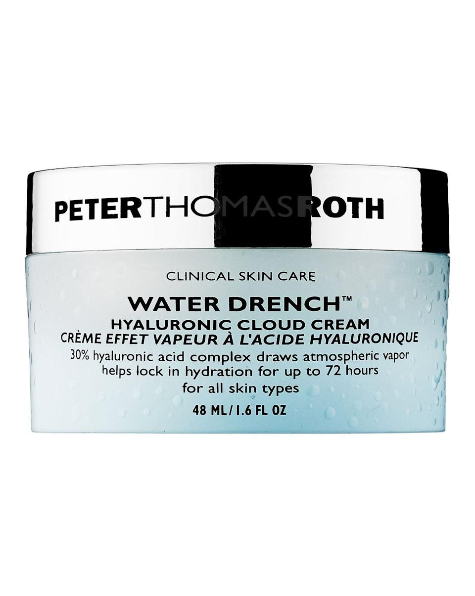 """<p><strong>Peter Thomas Roth Water Drench Hyaluronic Cloud Cream</strong></p><p>sephora.com</p><p><strong>$22.00</strong></p><p><a href=""""https://go.redirectingat.com?id=74968X1596630&url=https%3A%2F%2Fwww.sephora.com%2Fproduct%2Fwater-drench-hyaluronic-cloud-cream-P415701&sref=https%3A%2F%2Fwww.harpersbazaar.com%2Fbeauty%2Fskin-care%2Fg19738338%2Fbest-skin-care-brands%2F"""" rel=""""nofollow noopener"""" target=""""_blank"""" data-ylk=""""slk:Shop Now"""" class=""""link rapid-noclick-resp"""">Shop Now</a></p><p>There are few brands that cover a wide range of skincare concerns as successfully as Peter Thomas Roth. From acne to anti-aging, you'd be hard-pressed to find a product that won't work for your skin. And for anyone looking to quench dry skin, look no further than the aptly named """"Water Drench"""" hyaluronic acid line.</p>"""