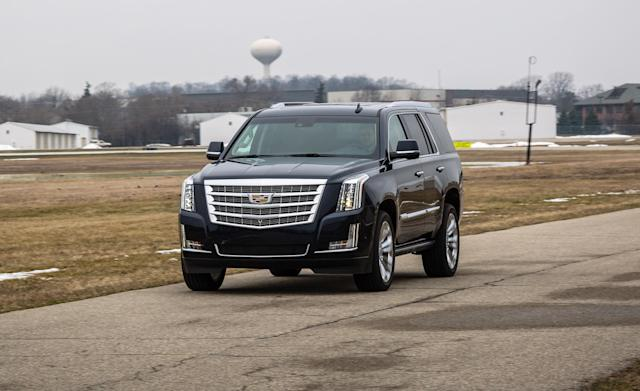 <p><strong>Cadillac Escalade</strong><br><strong>Price as tested:</strong> $87,360<br><strong>Highlights:</strong> Impressive tow capacity with powerful V8 engine.<br><strong>Lowlights:</strong> Rides stiffly, not very roomy or comfortable in second and third rows, confusing infotainment system. Reliability issues with power equipment, transmission and climate system.<br>(Car and Driver) </p>
