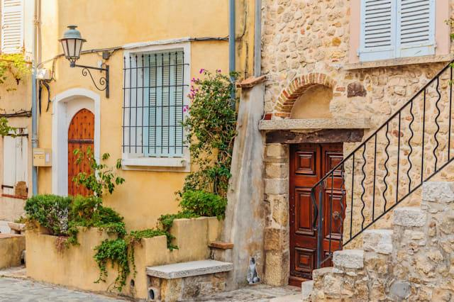 street in the old town antibes...