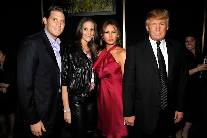 NEW YORK, NY - FEBRUARY 6: (L-R) David Wolkoff, Stephanie Winston Wolkoff, Melania Trump and Donald Trump attend GUCCI and MADONNA host A NIGHT TO BENEFIT RAISING MALAWI AND UNICEF at the United Nations on February 6, 2008 in New York City. (Photo by BILLY FARRELL/Patrick McMullan via Getty Images)