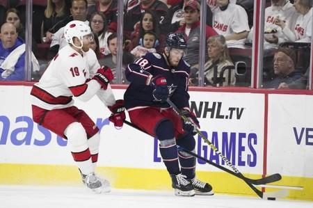 NHL: Columbus Blue Jackets at Carolina Hurricanes