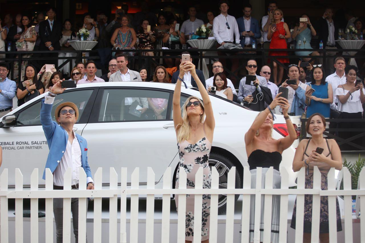 <p>The crowd watching the polo match at the Singapore Polo Club. (Photo: Don Wong for Yahoo Singapore) </p>
