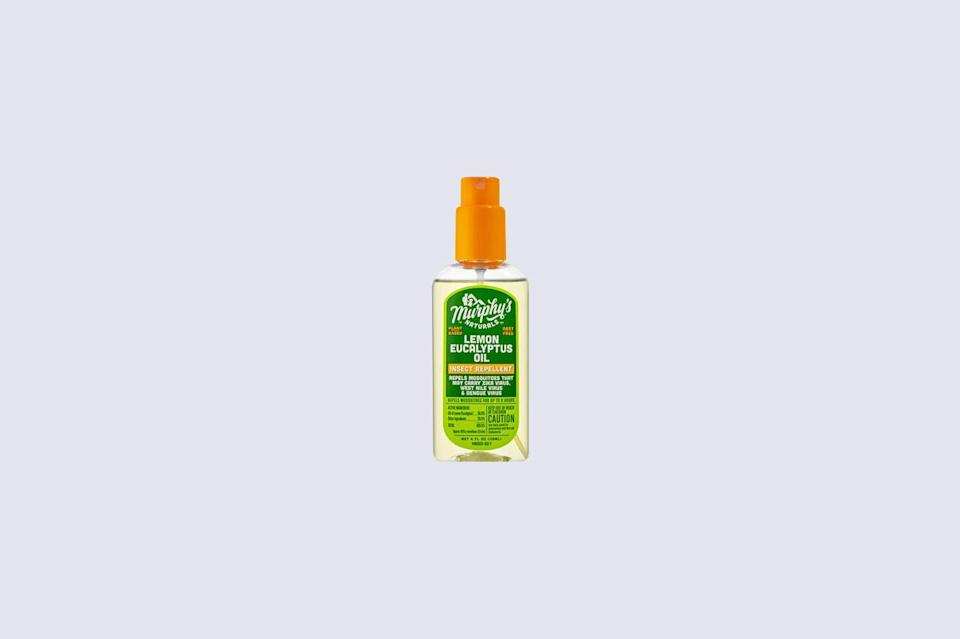 """<p>If you're in the market for a natural mosquito repellent that's small enough to fit in your pocket or purse, scoop up this traveled-sized spray. It contains 30% <a href=""""https://www.marthastewart.com/7843587/best-natural-bug-repellent-oil-of-lemon-eucalyptus"""" rel=""""nofollow noopener"""" target=""""_blank"""" data-ylk=""""slk:oil of lemon eucalyptus"""" class=""""link rapid-noclick-resp"""">oil of lemon eucalyptus</a>, and it protects your skin from bug bites for up to six hours.</p> <p><strong><em>Shop Now: </em></strong><em>Murphy's Natural Lemon Eucalyptus Oil Insect Repellant Spray, $9.99</em><em>, <a href=""""http://grove.pxf.io/c/249354/483759/8442?subId1=MSL11NaturalMosquitoRepellentstoKeepBugsatBayThisSummerrhaarsOutGal7848564202008I&u=https%3A%2F%2Fwww.grove.co%2Fcatalog%2Fproduct%2Flemon-eucalyptus-oil-mosquito-repellent-spray%2F"""" rel=""""nofollow noopener"""" target=""""_blank"""" data-ylk=""""slk:grove.co"""" class=""""link rapid-noclick-resp"""">grove.co</a></em><em>.</em></p>"""