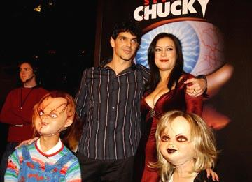 """Premiere: Director <a href=""""/movie/contributor/1800020775"""">Don Mancini</a> and <a href=""""/movie/contributor/1800018758"""">Jennifer Tilly</a> with Chucky and Tiffany at the Los Angeles premiere of Rogue Pictures' <a href=""""/movie/1808405790/info"""">Seed of Chucky</a> - 11/10/2004<br>Photo: <a href=""""http://www.wireimage.com/"""">Amy Graves, WireImage.com</a>"""