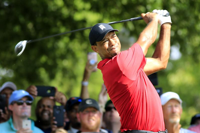 a6be0b8fa8a4d Tiger Woods displays new TaylorMade woods