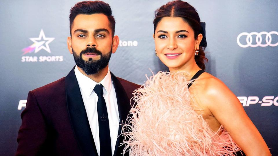Virat Kohli and his wife Anushka Sharma are seen here at an awards ceremony in 2019.