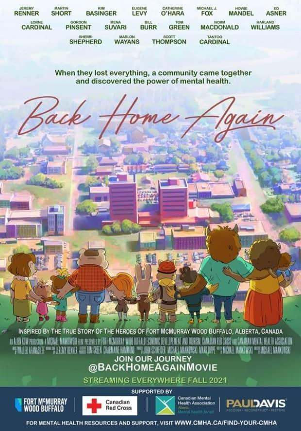 Back Home Again explores the story of the 2016 Horse River wildfire through the voices of woodland creatures.  (Back Home Again Movie - image credit)