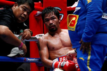 FILE PHOTO: Boxing - WBA Welterweight Title Fight - Manny Pacquiao v Lucas Matthysse