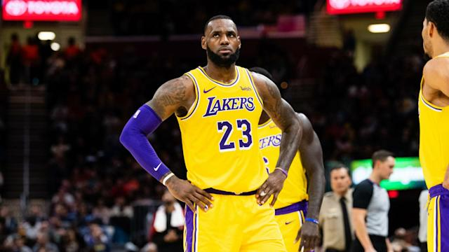LeBron James had 28 points, 11 rebounds and 16 assists for the Los Angeles Lakers, who crashed to back-to-back defeats on Tuesday.