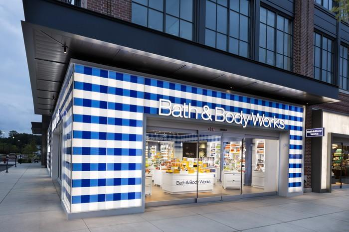 Exterior of a Bath & Body Works store