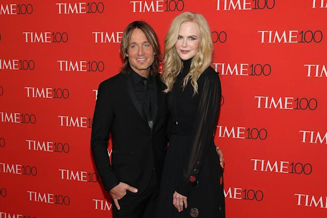 Keith Urban and Nicole Kidman attend the 2018 Time 100 Gala at Lincoln Center in New York, April 24, 2018. (Photo: Taylor Hill/FilmMagic)
