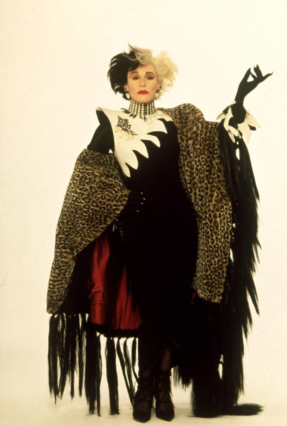 <p>We didn't know it was pure fashion when we were younger, but now Cruella de Vil is recognized as a style icon. Featured in <em>101 Dalmatians, </em>Glenn Close proves that all you really need for this look is your favorite leopard-print coat and a lot of hairspray. </p>