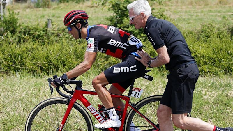 Australia's Richie Porte finished the second stage of Tour de France calmly after blowing a tyre