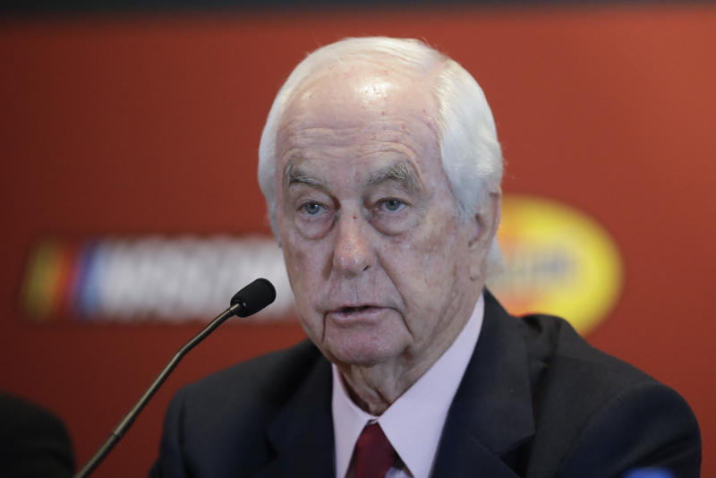 Indianapolis Motor Speedway owner Roger Penske speaks during a news conference at the Indianapolis Motor Speedway, Wednesday, Jan. 15, 2020, in Indianapolis. Penske announced that this year's NASCAR Xfinity Series race will be run on the track's road course for the first time. (AP Photo/Darron Cummings)