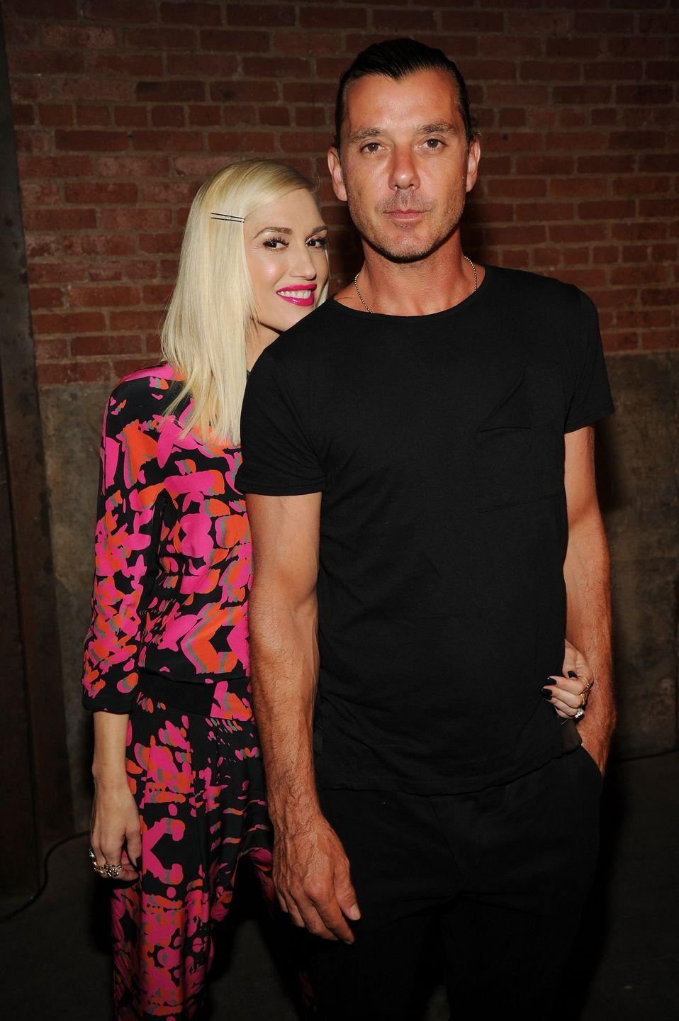 "<p>Gwen and husband Gavin Rossdale split after 20 years together (14 of them married). ""While the two of us have come to the mutual decision that we will no longer be partners in marriage, we remain partners in parenthood and are committed to jointly raising our three sons in a happy and healthy environment.""</p>"