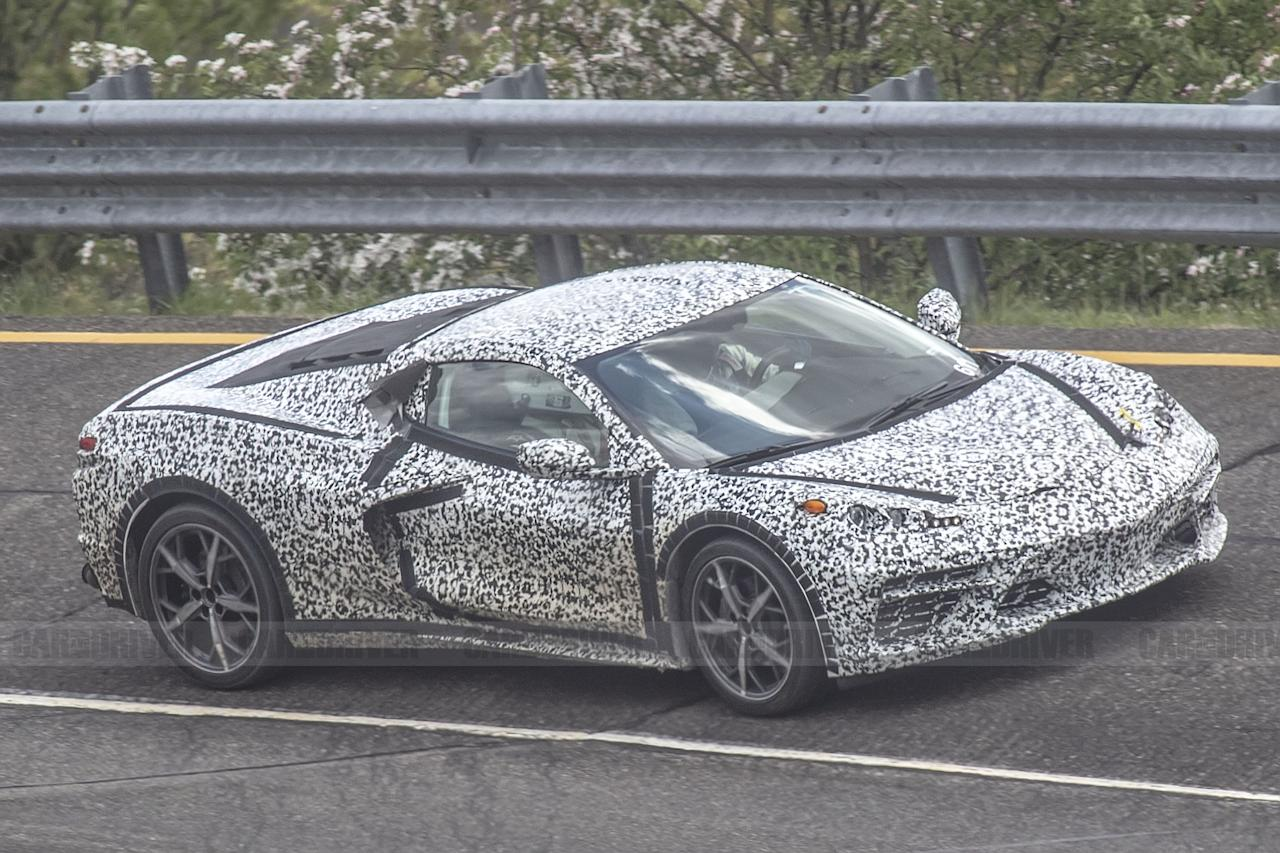 """<p>A prototype for <a href=""""https://www.caranddriver.com/news/a27116013/chevrolet-corvette-c8-mid-engine-confirmed-2020/"""" target=""""_blank"""">the new mid-engine C8 Corvette</a> hit the straightaway at GM's proving grounds in Milford, Michigan for some high-speed testing-and luckily, our spy photographer was there to witness it. While we've seen <a href=""""https://www.caranddriver.com/news/a20722220/fresh-mid-engine-corvette-spy-shots-reveal-new-details/"""" target=""""_blank"""">numerous spy photos</a> of the highly anticipated sports car over the years, we'll take any chance we can get to take a gander at the new 'Vette. Click through for more details.<br></p>"""
