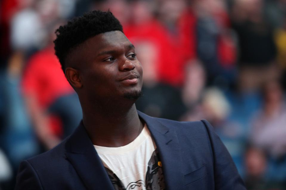 New Orleans Pelicans rookie Zion Williamson is nearing a return. (Chris Graythen/Getty Images)