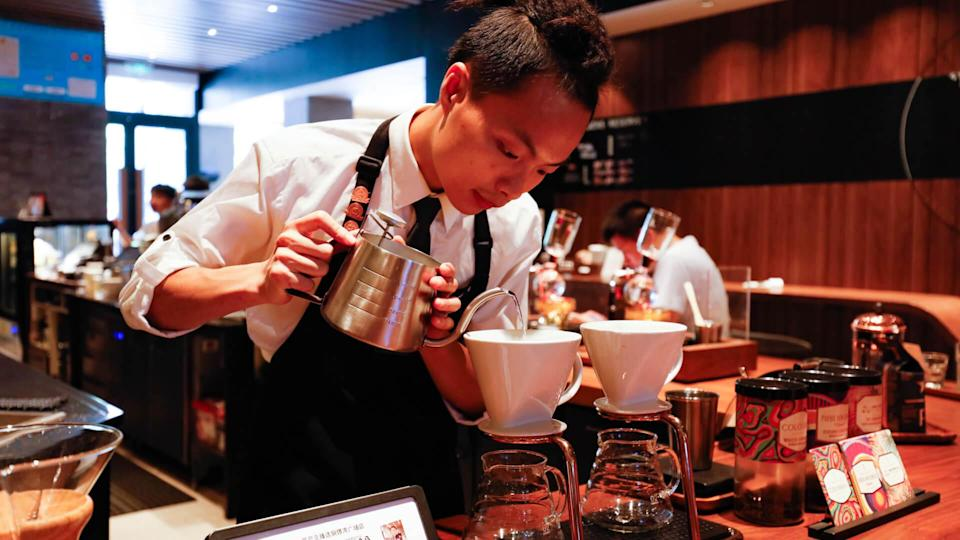 coffee prices in Shanghai China