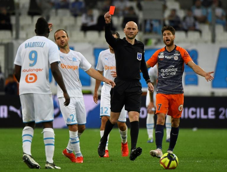 Mario Balotelli was shown a red card in what could be his final game for Marseille