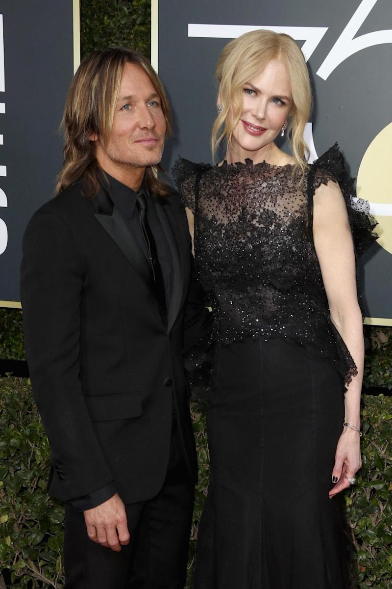 Nicole Kidman and Keith Urban, here at the 2018 Golden Globes, have reportedly undergone 'emergency' marriage counselling. Source: Getty