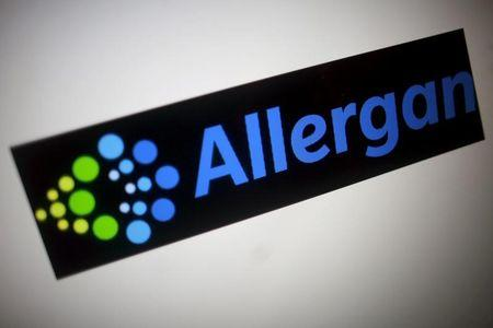 FILE PHOTO -  The Allergan logo is seen in this photo illustration in Singapore