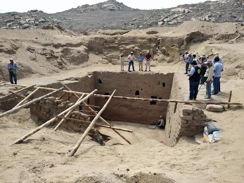 The discovery was made on the Mata Indio dig site in the northern Lambayeque region (AFP Photo/STR)