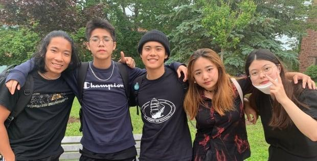 Students from around the world are at a Mount Allision University summer camp, passing time between semesters. They are enrolled at high schools across the province. (Tori Weldon/CBC - image credit)