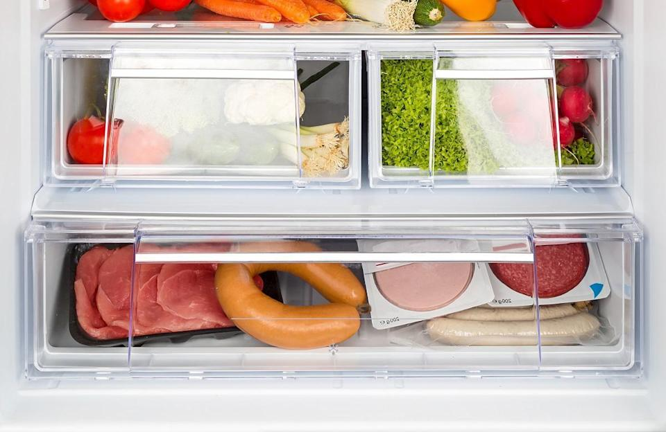 <p>Storing meat on the bottom shelf of your fridge has a double benefit: it's the coldest area, which keeps the meat fresh, plus it ensures that it can't touch or drip onto other food. If raw meat or its liquid touches fruits, veggies and other items in your fridge, they're no longer edible because bacteria can spread and cause food poisoning. So really this will help you extend the life if your produce too.</p>
