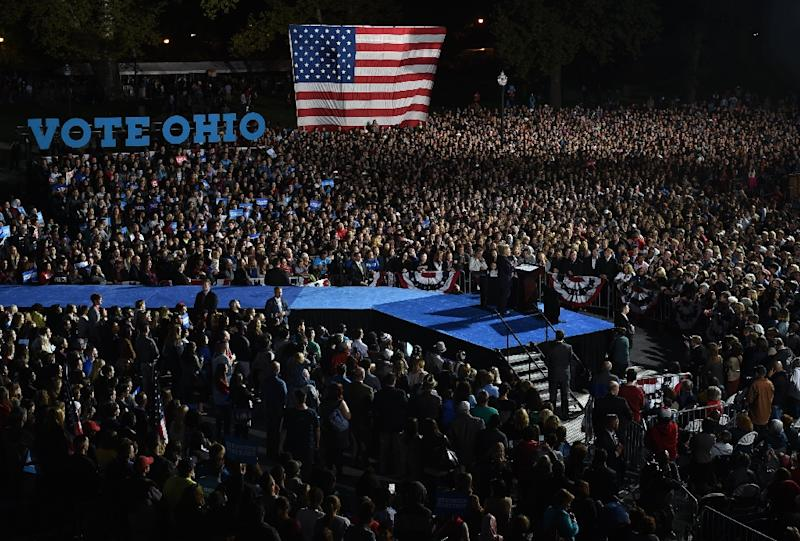 Image result for clinton crowds oct 2016