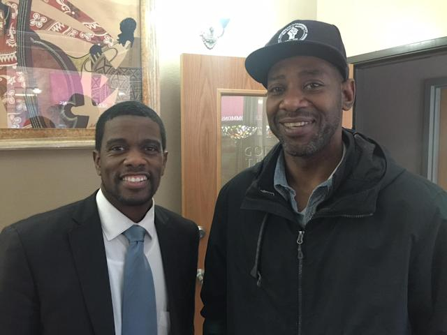 St. Paul Mayor Melvin Carter (L) and John Thompson spoke about the impact Philando Castile's life and death had on the Twin Cities.  (Yahoo Sports)
