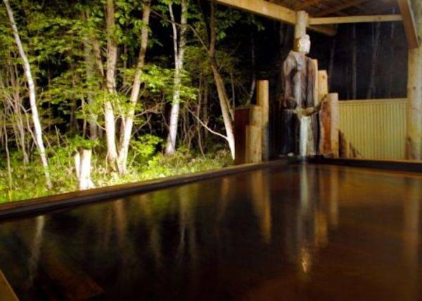 Sulfur hot spring piped directly from the source (Meiyu-no-Mori Hotel Kitafukuro)