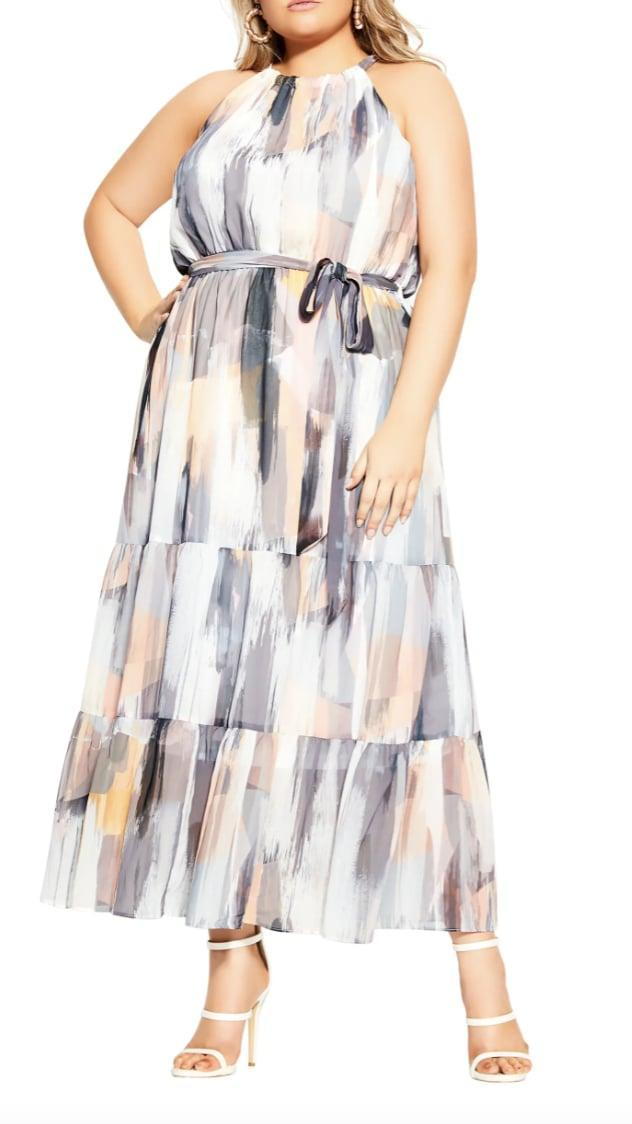 <p>Show off your shoulders in this <span>City Chic Brushstroke Halter Maxi Dress</span> ($109), which will elevate any ensemble.</p>