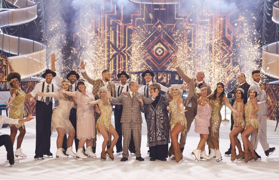 Linda Lusardi joined a group of male and female celebrities and professional skaters to strip naked for 'The Real Full Monty On Ice'. (ITV)