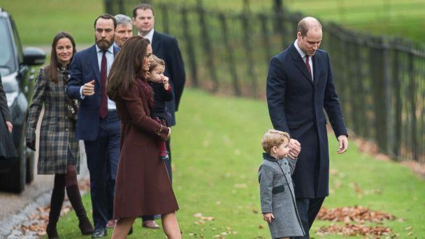 PHOTO: In this file photo, Prince William, Duke of Cambridge, Catherine, Duchess of Cambridge, Prince George of Cambridge, Princess Charlotte of Cambridge, Pippa Middleton and James Middleton attend Church, Dec. 25, 2016, in Bucklebury, Berkshire, U.K. (Samir Hussein/Samir Hussein/Getty Images, FILE)