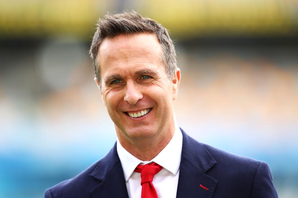 Michael Vaughan (pictured) during commentary before a match.