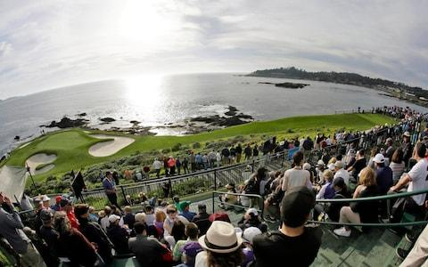 Pebble Beach's glorious location is a far cry from some of the venues Tarren has had to visit recently - Credit: AP