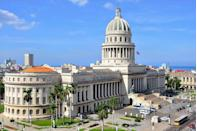 <p>One of the most visited buildings in Havana, the National Capitol Building was designed by Eugenio Rayneri Piedra and built between 1926-1929. The cupola, which features stone cladding around a steel frame, was inspired by that of the Pantheon in Paris.</p>