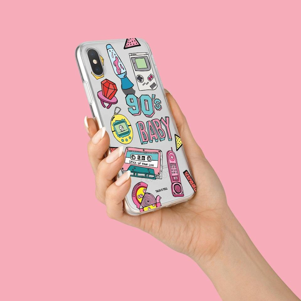 <p>This <span>TalkAndTell '90s Baby iPhone Case</span> ($14) will add a cool factor to their most-used device.</p>