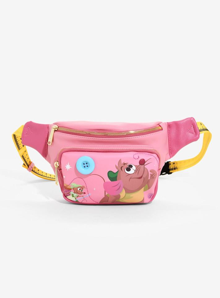 """<p><a href=""""https://www.boxlunch.com/product/loungefly-disney-cinderella-gus-gus-fanny-pack---boxlunch-exclusive/11882070.html?cgid=accessories-bags-fanny-packs#start=1"""" target=""""_blank"""" class=""""ga-track"""" data-ga-category=""""Related"""" data-ga-label=""""https://www.boxlunch.com/product/loungefly-disney-cinderella-gus-gus-fanny-pack---boxlunch-exclusive/11882070.html?cgid=accessories-bags-fanny-packs#start=1"""" data-ga-action=""""In-Line Links"""">Loungefly Disney <strong>Cinderella</strong> Gus Gus Fanny Pack</a> ($28, originally $35)</p>"""