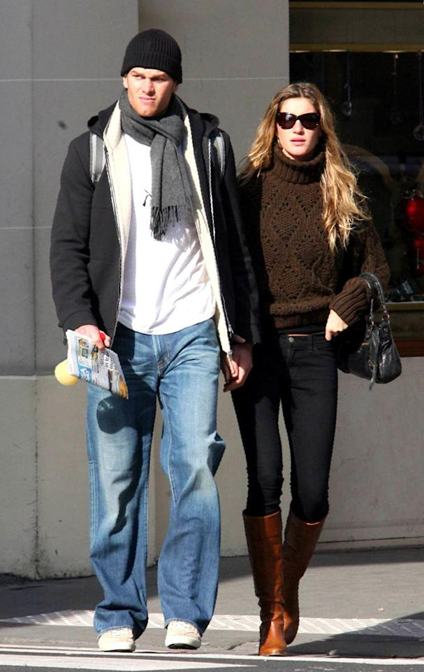"New England Patriots quarterback Tom Brady had already moved onto supermodel Gisele Bundchen when his ex-girlfriend Bridget Moynahan revealed she was pregnant with his child in February. <a href=""http://www.x17online.com"" target=""new"">X17 Online</a> - February 20, 2007"