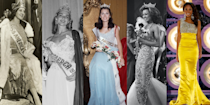 """<p>The Miss America pageant has been a staple of American culture ever since its founding in 1921. While the organization recently celebrated its 100th birthday, a lot has changed over the years. The event is now branded as a """"competition"""" with """"candidates,"""" and there is no longer a swimsuit portion. These days, the brand is seeking out more than just beauty—Miss America 2020, Camille Schrier, won the competition by conducting a science experiment as her talent. As the pageant evolves, so do the dresses. Click through this gallery to see some of the most stunning Miss America dresses from the past 100 years.</p>"""
