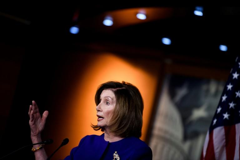 US Speaker of the House Nancy Pelosi said a new war powers resolution would serve to limit President Donald Trump's ability to conduct military action against Iran without approval from Congress (AFP Photo/Brendan Smialowski)