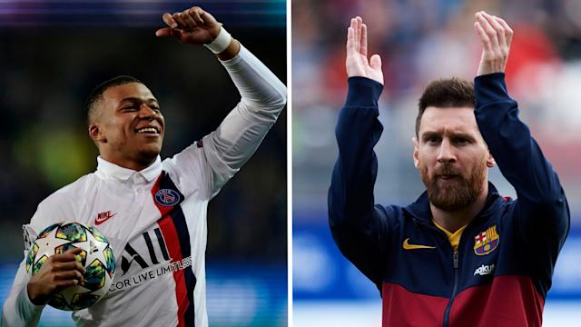 Both stars are among the 30 nominees for December's award but the Paris Saint-Germain attacker believes the Argentine deserves to win it