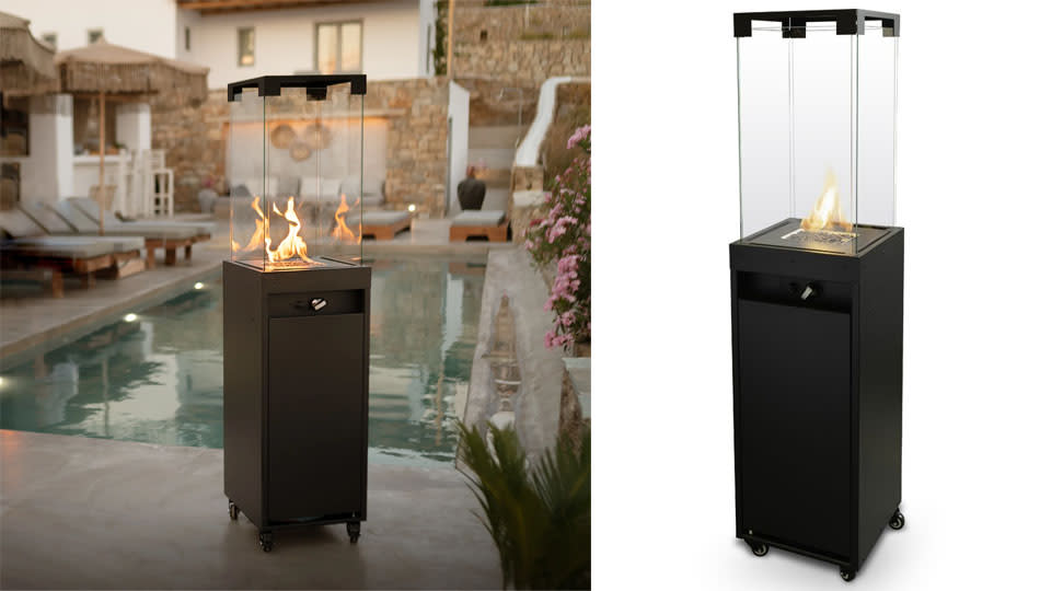 Introduce this modern patio heater into your outdoor space. (Photo: Wayfair)