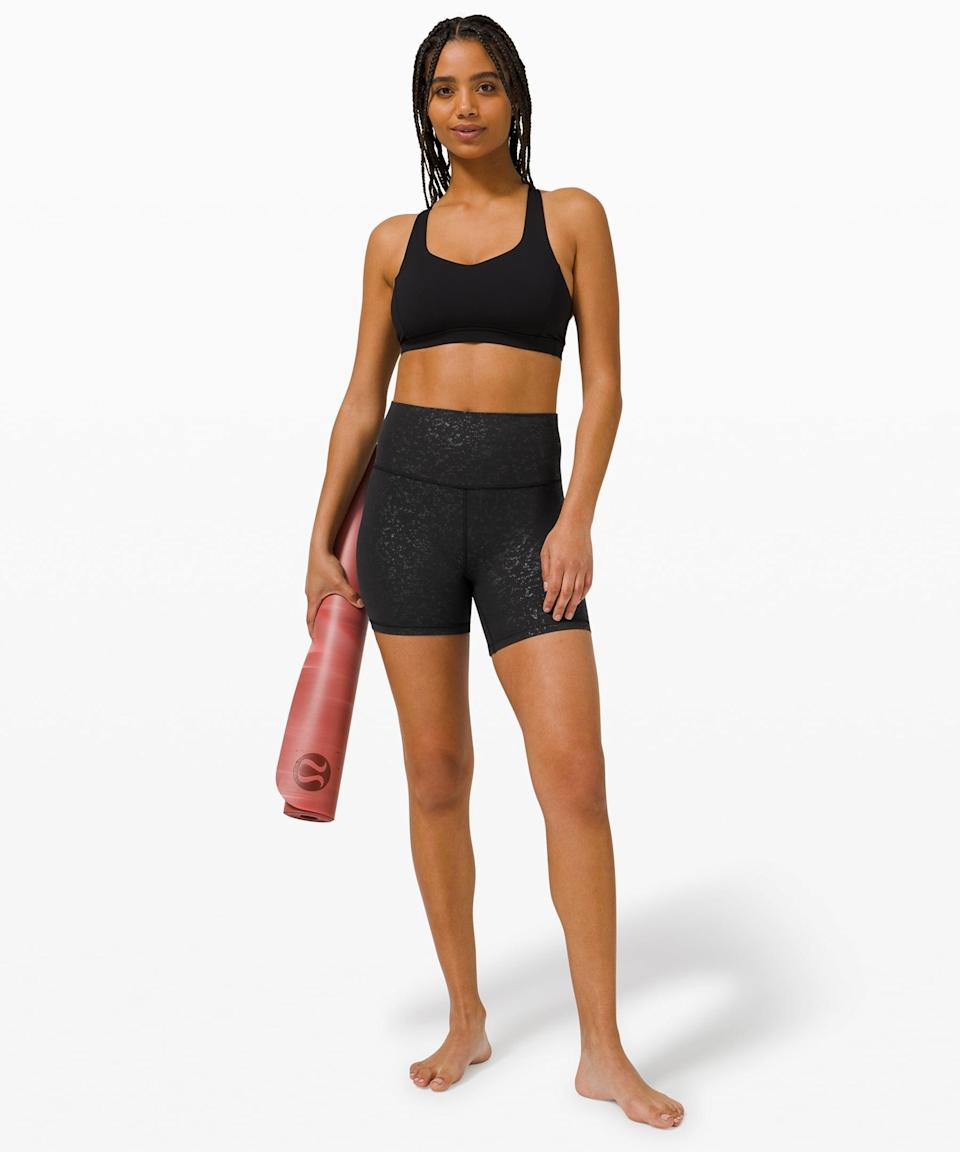 <p>Summer is coming, so get ready for hot weather in this cute <span>Lululemon Align Short</span> ($58) and <span>Free to be Serene Bra</span> ($52).</p>