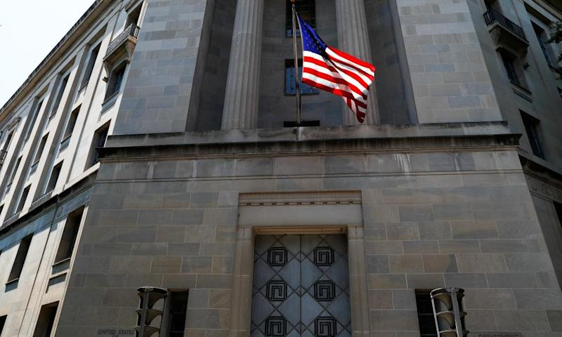 The US Department of Justice headquarters building.